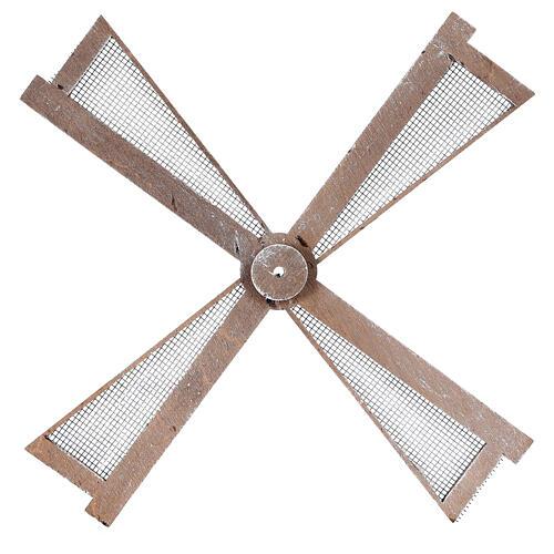 Pá para moinho de vento miniatura presépio estilo mediterrâneo 20x20 cm 1