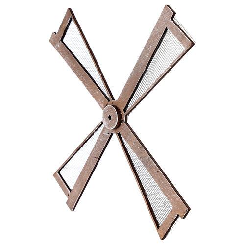 Pá para moinho de vento miniatura presépio estilo mediterrâneo 20x20 cm 2