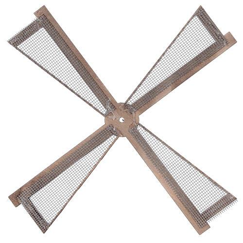 Pá para moinho de vento miniatura presépio estilo mediterrâneo 20x20 cm 3