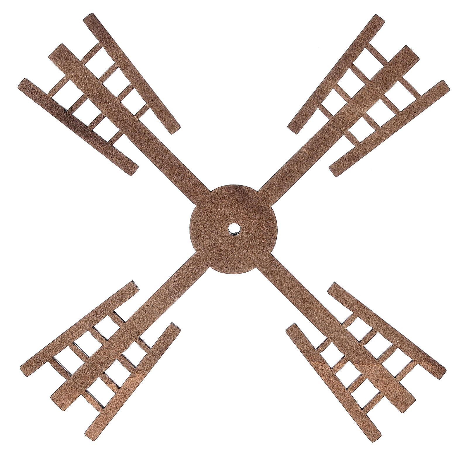 Pá para moinho de vento miniatura presépio estilo flamengo 13x13 cm 4