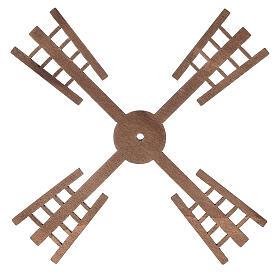 Pá para moinho de vento miniatura presépio estilo flamengo 13x13 cm s1