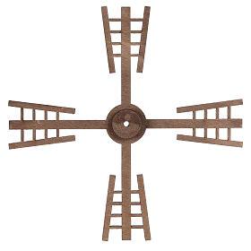 Pá para moinho de vento miniatura presépio estilo flamengo 13x13 cm s3