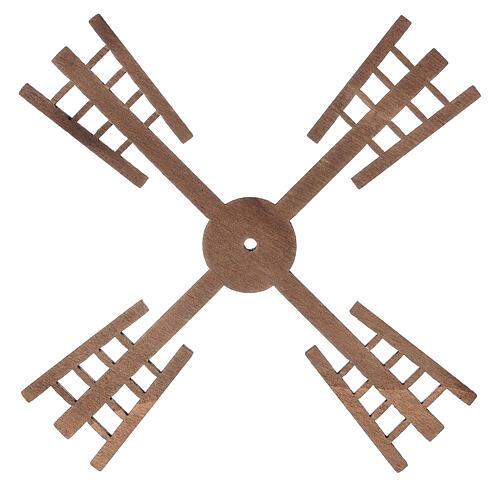 Pá para moinho de vento miniatura presépio estilo flamengo 13x13 cm 1