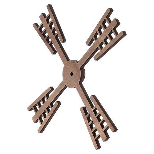 Pá para moinho de vento miniatura presépio estilo flamengo 13x13 cm 2