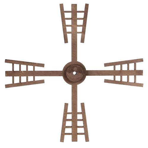 Pá para moinho de vento miniatura presépio estilo flamengo 13x13 cm 3
