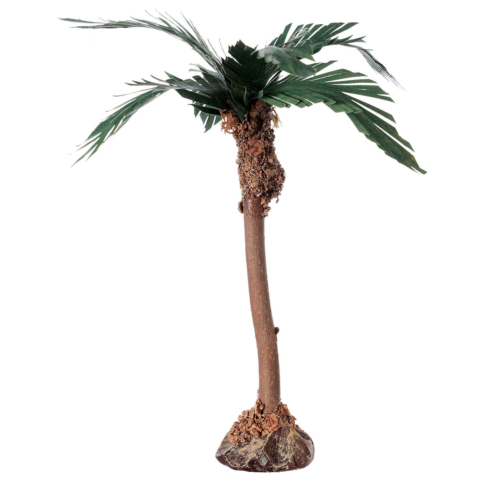 Miniature palm tree with wood trunk 15 cm 4