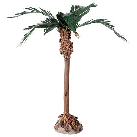 Miniature palm tree with wood trunk 15 cm s1