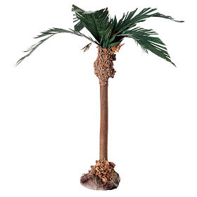 Miniature palm tree with wood trunk 15 cm s3