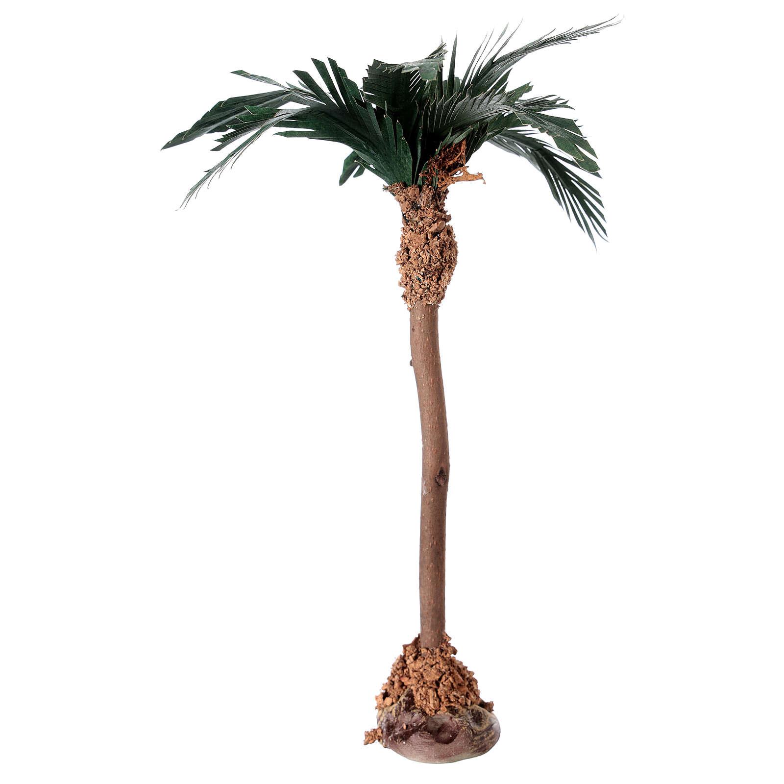 Palm tree figurine wooden trunk 20 cm 4