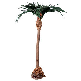 Palm tree figurine wooden trunk 20 cm s1