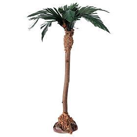 Palm tree figurine wooden trunk 20 cm s2