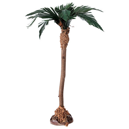 Palm tree figurine wooden trunk 20 cm 2