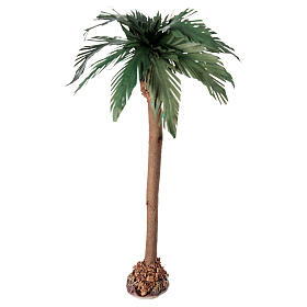 Miniature palm tree with wooden trunk 25 cm s1