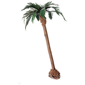 Miniature palm tree with wooden trunk 25 cm s2