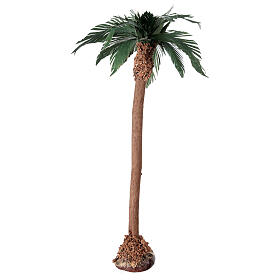 Miniature palm tree with wooden trunk 25 cm s3