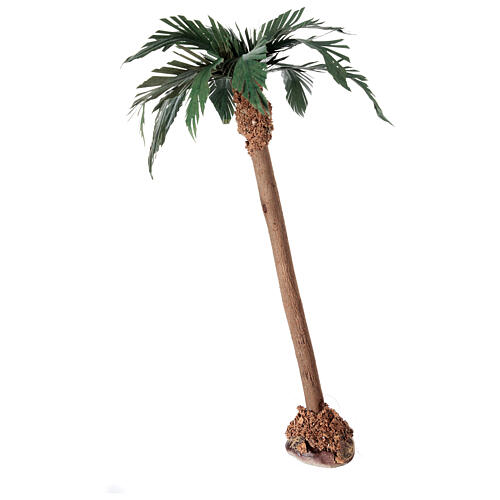 Miniature palm tree with wooden trunk 25 cm 2