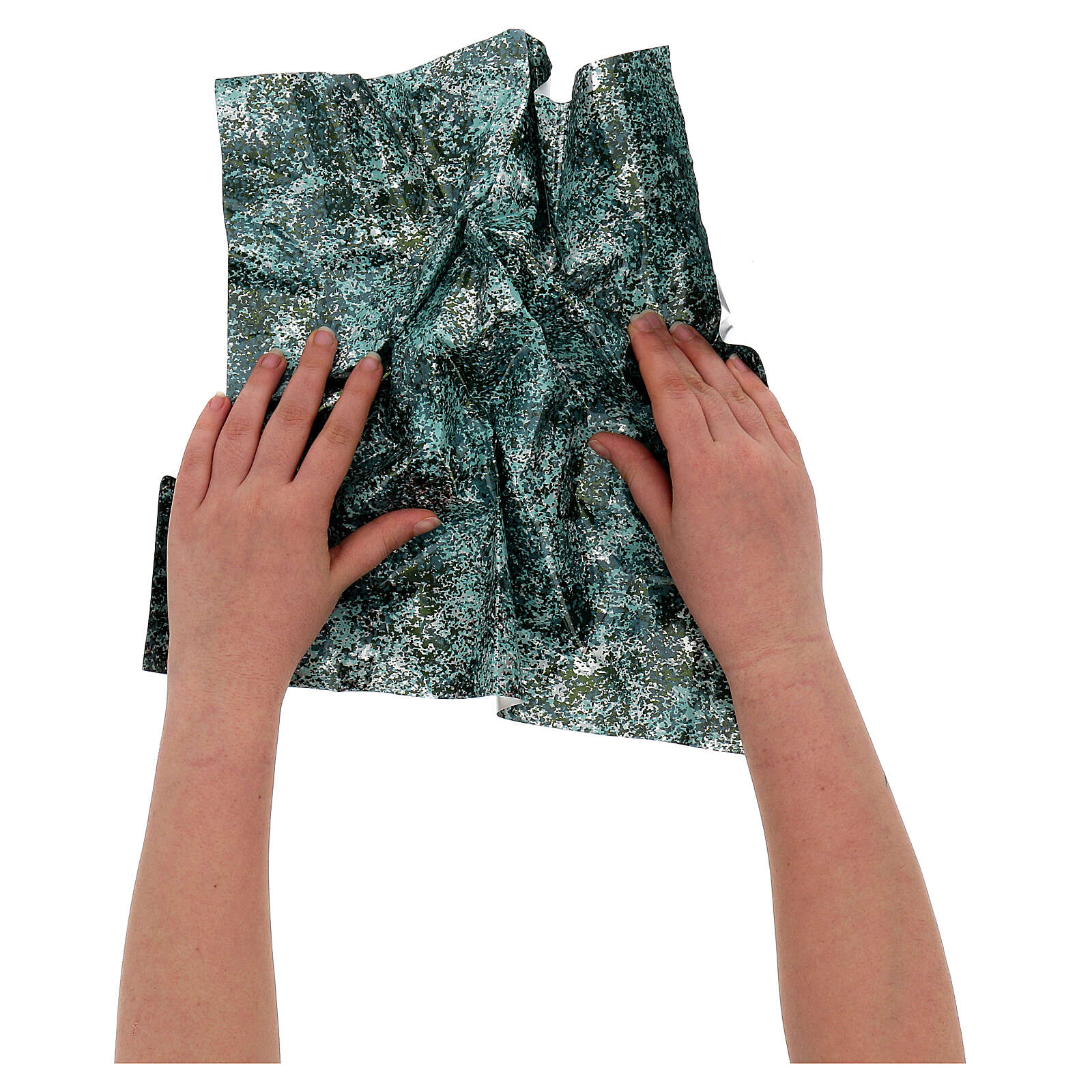 Mouldable paper, green water effect 35x35 cm 4