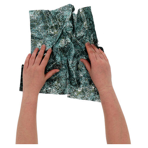 Mouldable paper, green water effect 35x35 cm 2