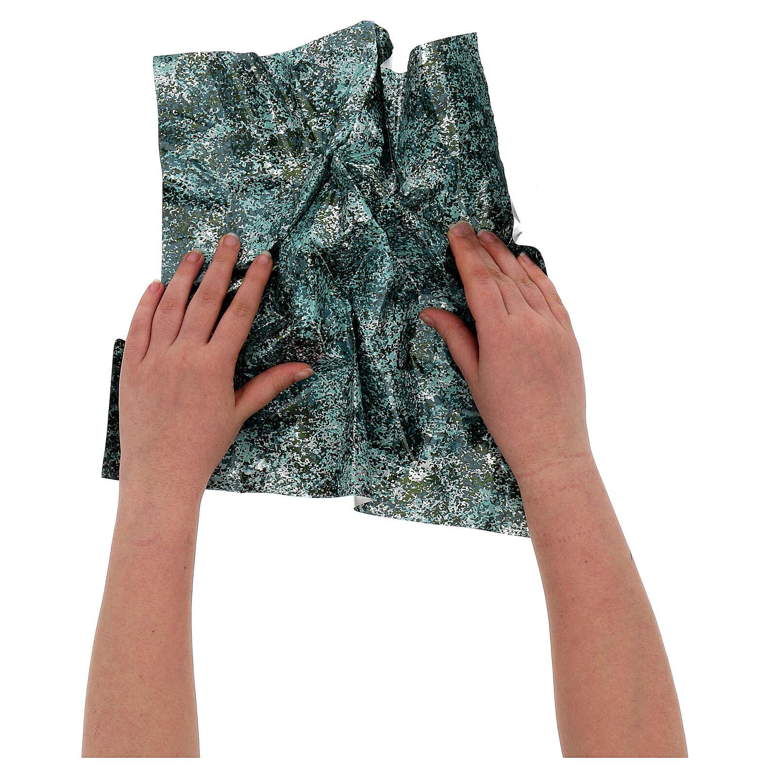Papel moldável efeito água verde 35x35 cm 4
