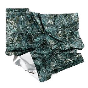 Papel moldável efeito água verde 35x35 cm s4