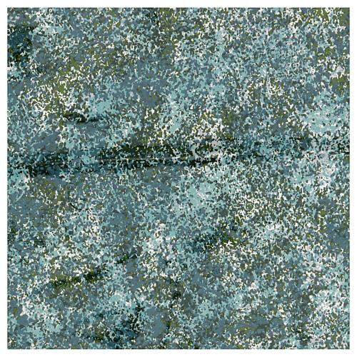 Papel moldável efeito água verde 35x35 cm 1