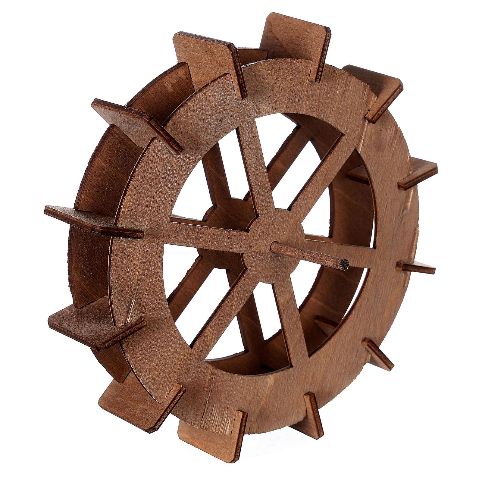 Roue de moulin en bois diam. 15 cm 4