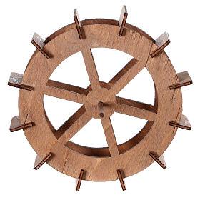 Ruota del mulino in legno diam. 15cm s1