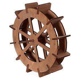 Ruota del mulino in legno diam. 15cm s2