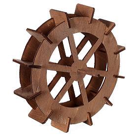 Ruota del mulino in legno diam. 15cm s3
