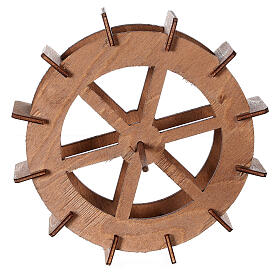 Ruota del mulino in legno diam. 15cm s4
