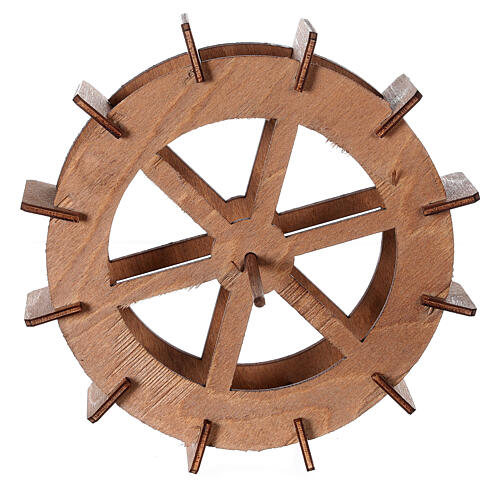 Ruota del mulino in legno diam. 15cm 4