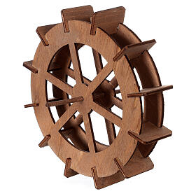 Miniature mill wheel in wood 15 cm diameter s2