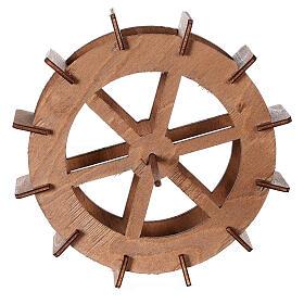 Miniature mill wheel in wood 15 cm diameter s4