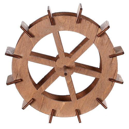 Miniature mill wheel in wood 15 cm diameter 1