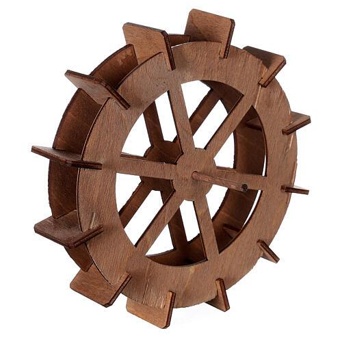Miniature mill wheel in wood 15 cm diameter 3