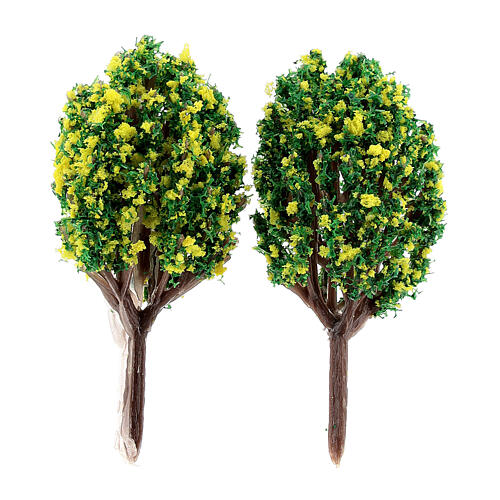 Lemon bushes for DIY Nativity scene (2 pcs) 1