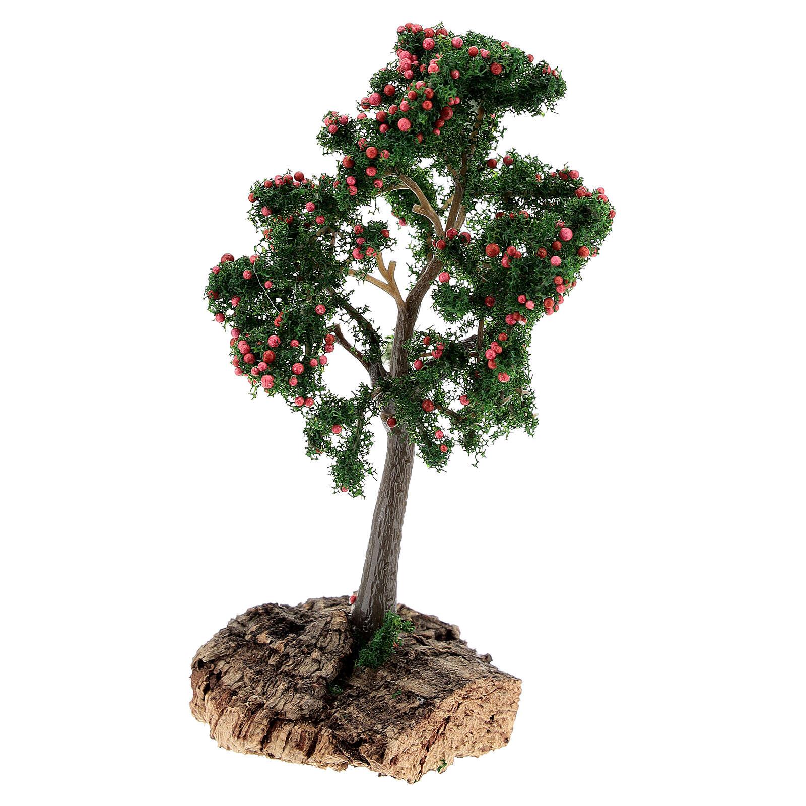 Árbol de manzanas con base de corcho 13 cm 4