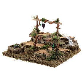 Double vineyard for Nativity scene 15x13x9 cm s2
