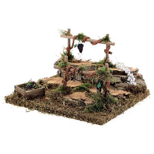 Double vineyard for Nativity scene 15x13x9 cm 2