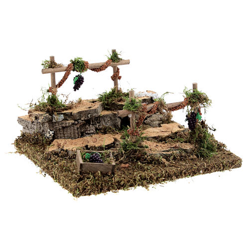 Double vineyard for Nativity scene 15x13x9 cm 3