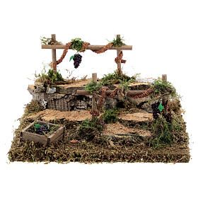 Double vineyard for nativity 15x15x10 cm s1