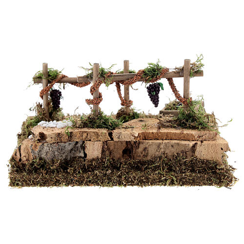 Double vineyard for nativity 15x15x10 cm 4
