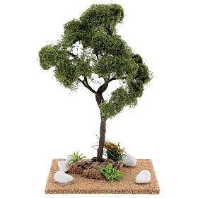 Miniature Elm tree h. 25 cm for nativity s1