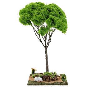 Árvore bordo miniatura presépio 20x20x38 cm s1