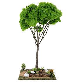 Árvore bordo miniatura presépio 20x20x38 cm s4