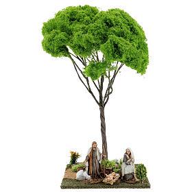 Árvore bordo miniatura presépio 20x20x38 cm s5
