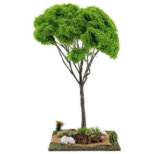 Árvore bordo miniatura presépio 20x20x38 cm 1