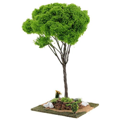Árvore bordo miniatura presépio 20x20x38 cm 2