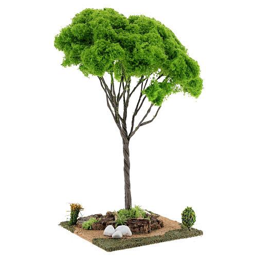 Árvore bordo miniatura presépio 20x20x38 cm 3