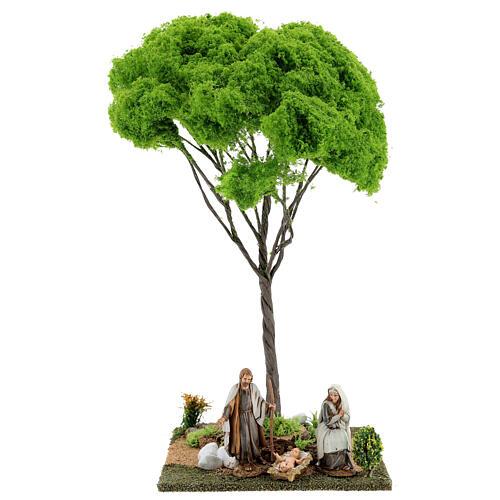 Árvore bordo miniatura presépio 20x20x38 cm 5